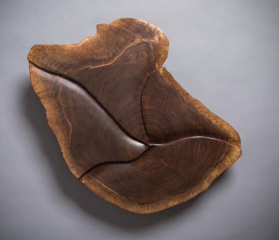 4 walnut sculptures